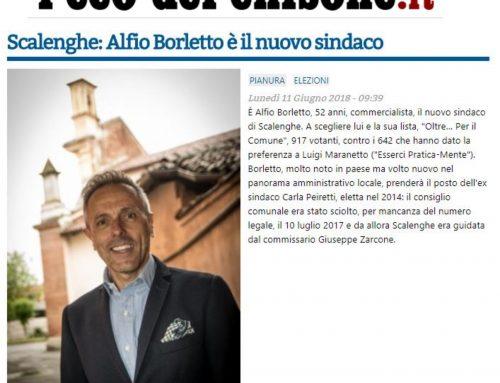 l'eco del chisone.it di lunedì 11.06.18 – Scalenghe: Alfio Borletto è il nuovo sindaco