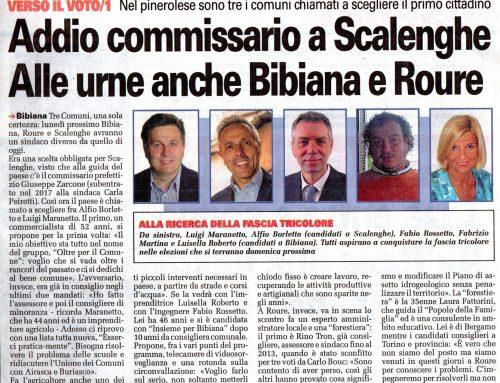 Torino Cronaca Qui di martedì 05.06.18: Addio Commissario a Scalenghe
